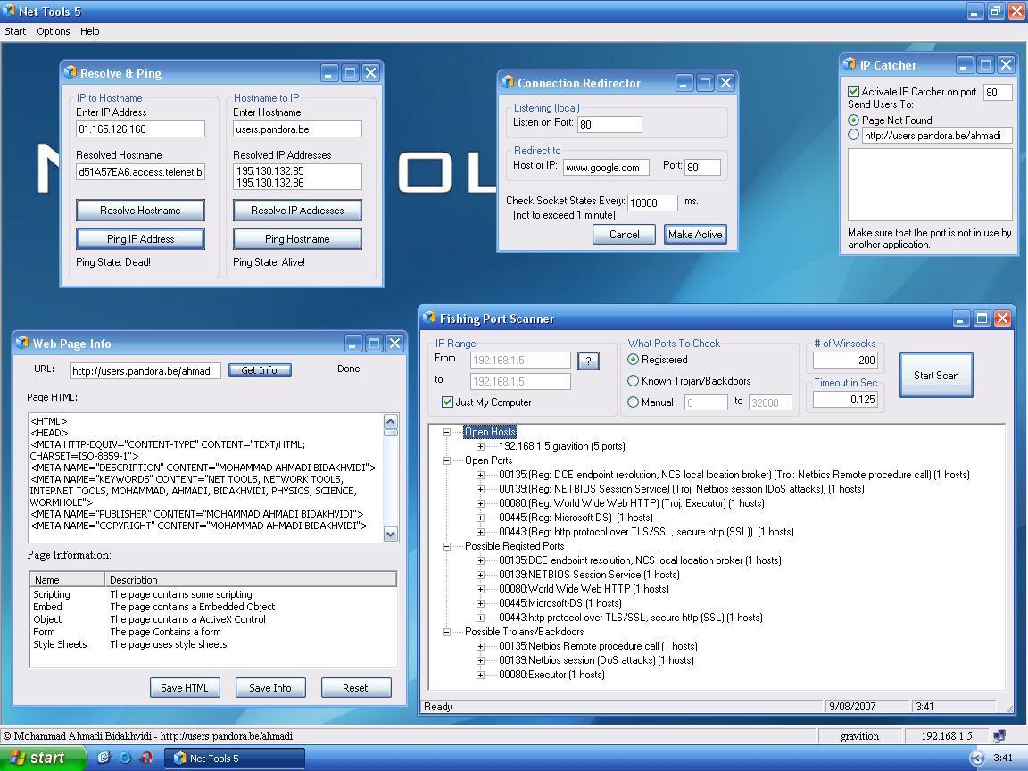 Download essantial net tool.